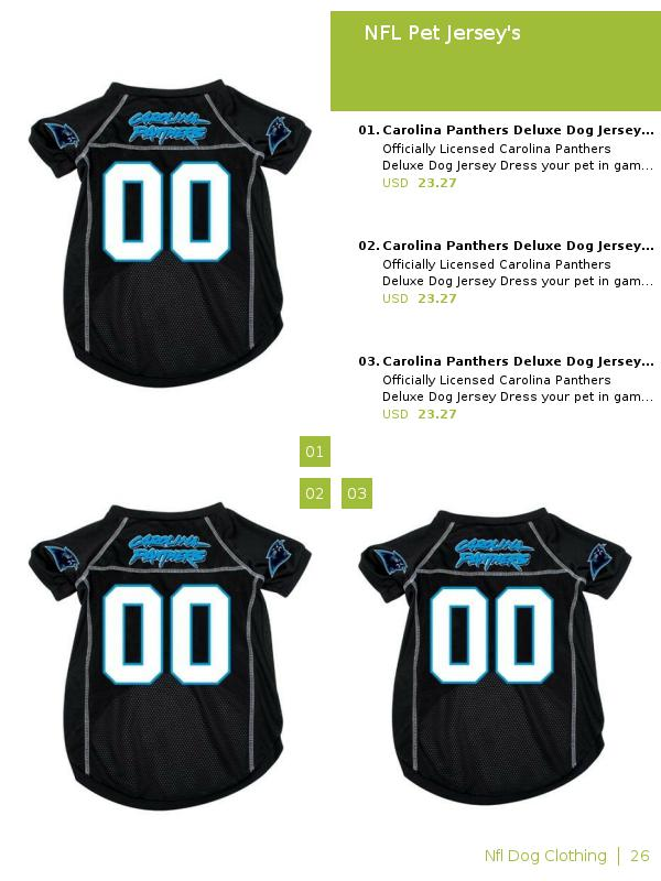 premium selection 8f3c0 e9513 Zination | NFL Pet Jersey's